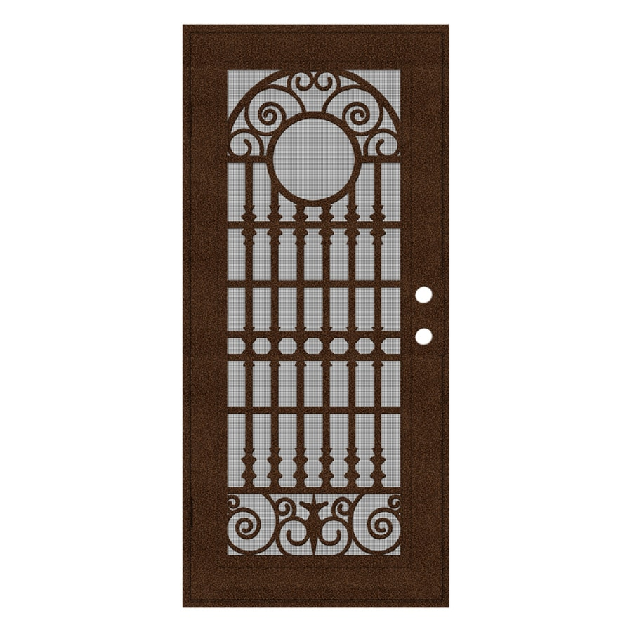 TITAN Spaniard Powder Coat Copperclad Aluminum Surface Mount Single Security Door (Common: 36-in x 80-in; Actual: 38.5-in x 81.563-in)