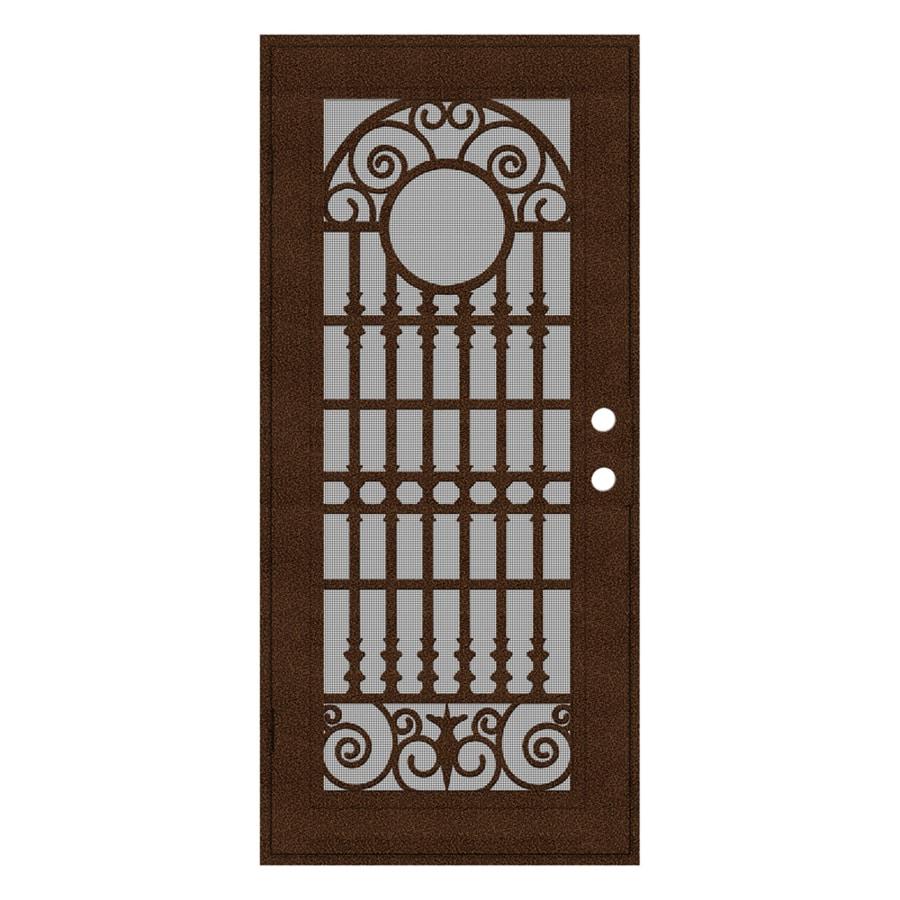 TITAN Spaniard Powder-Coat Copperclad Aluminum Surface Mount Single Security Door (Common: 36-in x 80-in; Actual: 38.5-in x 81.563-in)