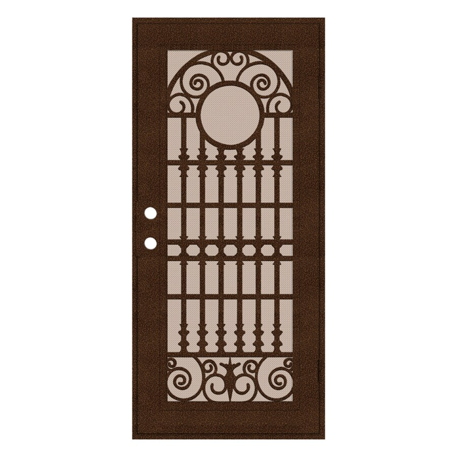 TITAN Spaniard Powder-Coat Copperclad Aluminum Recessed Mount Single Security Door (Common: 36-in x 80-in; Actual: 37.5-in x 81.563-in)