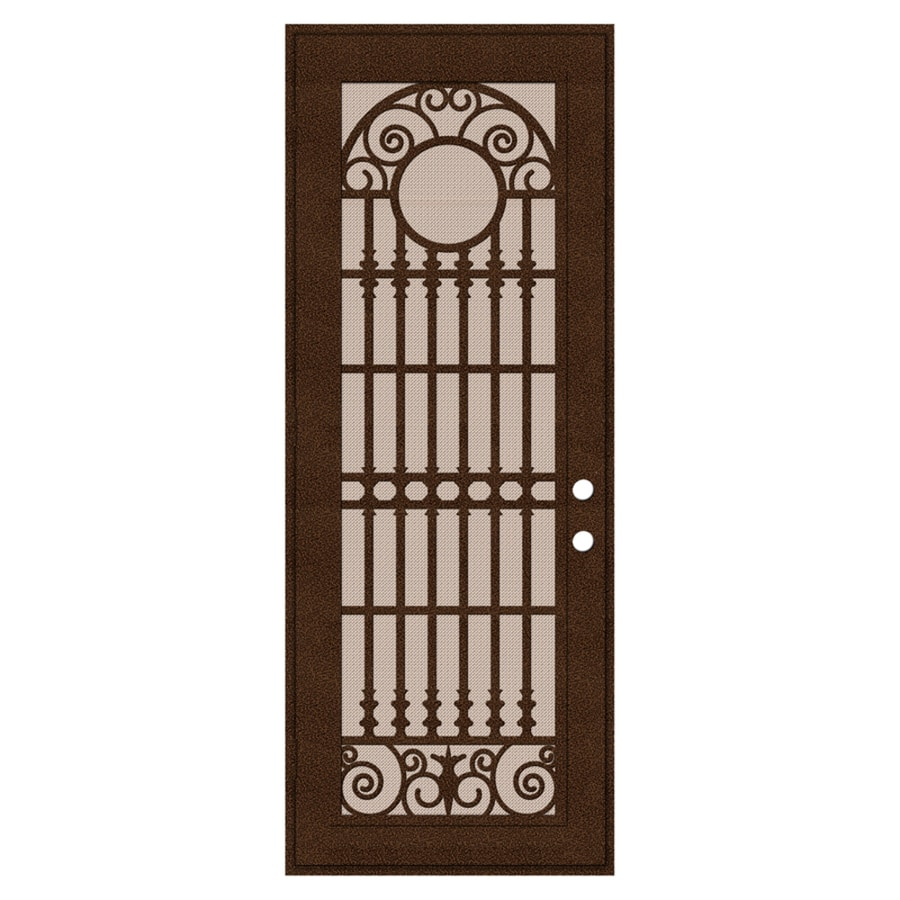 TITAN Spaniard Powder Coat Copperclad Aluminum Surface Mount Single Security Door (Common: 36-in x 96-in; Actual: 38.5-in x 97.563-in)