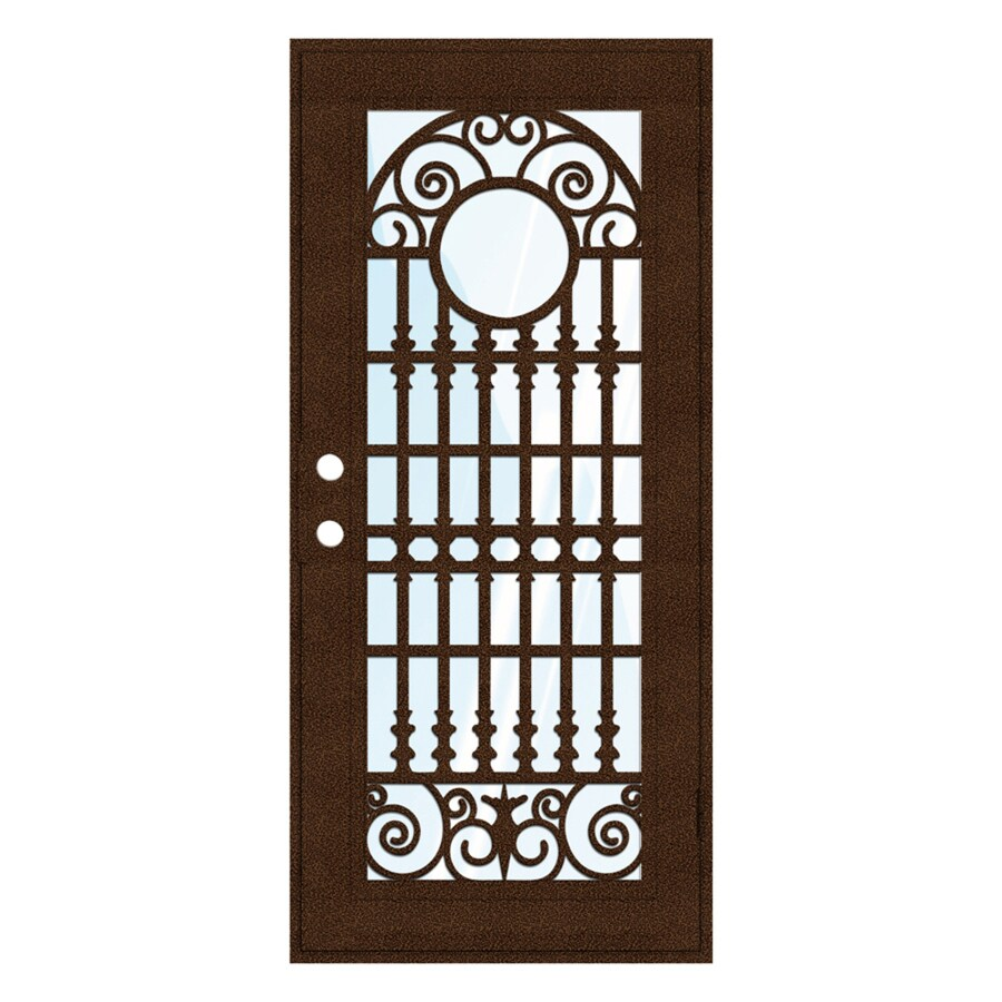 TITAN Spaniard Powder-Coat Copperclad Aluminum Surface Mount Single Security Door (Common: 36-in x 80-in; Actual: 38.5-in x 81.563-in)