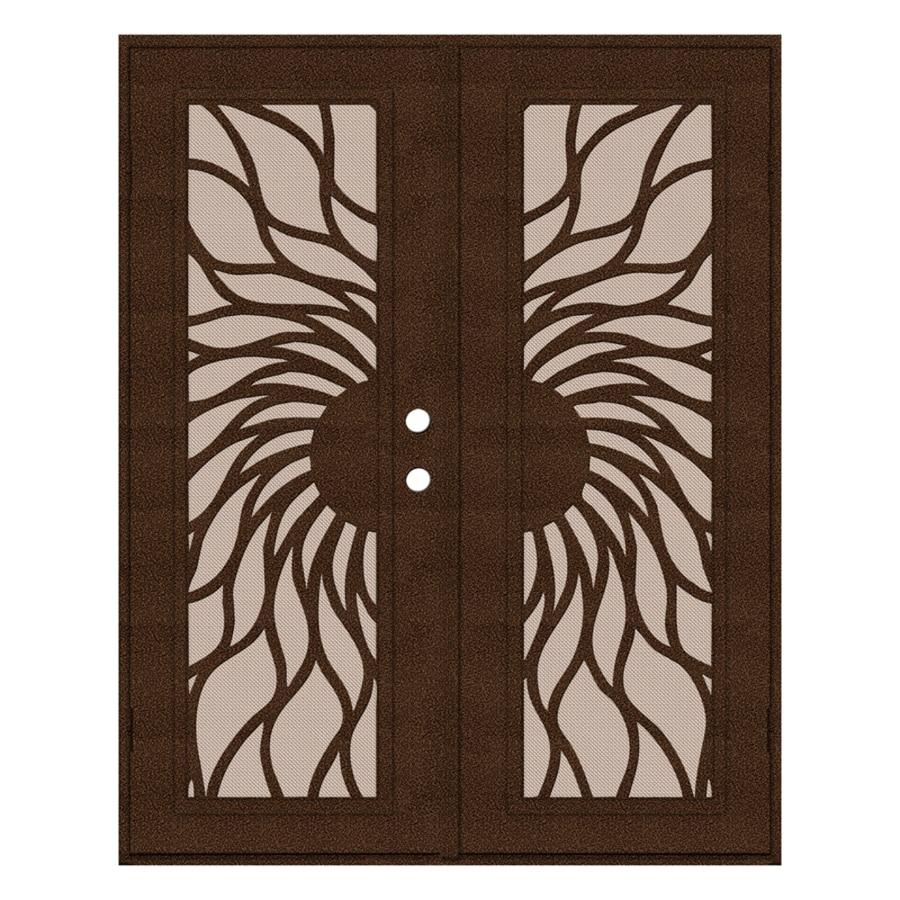 TITAN Sunfire Powder-Coat Copperclad Aluminum Surface Mount Double Security Door (Common: 60-in x 80-in; Actual: 62.5-in x 81.563-in)
