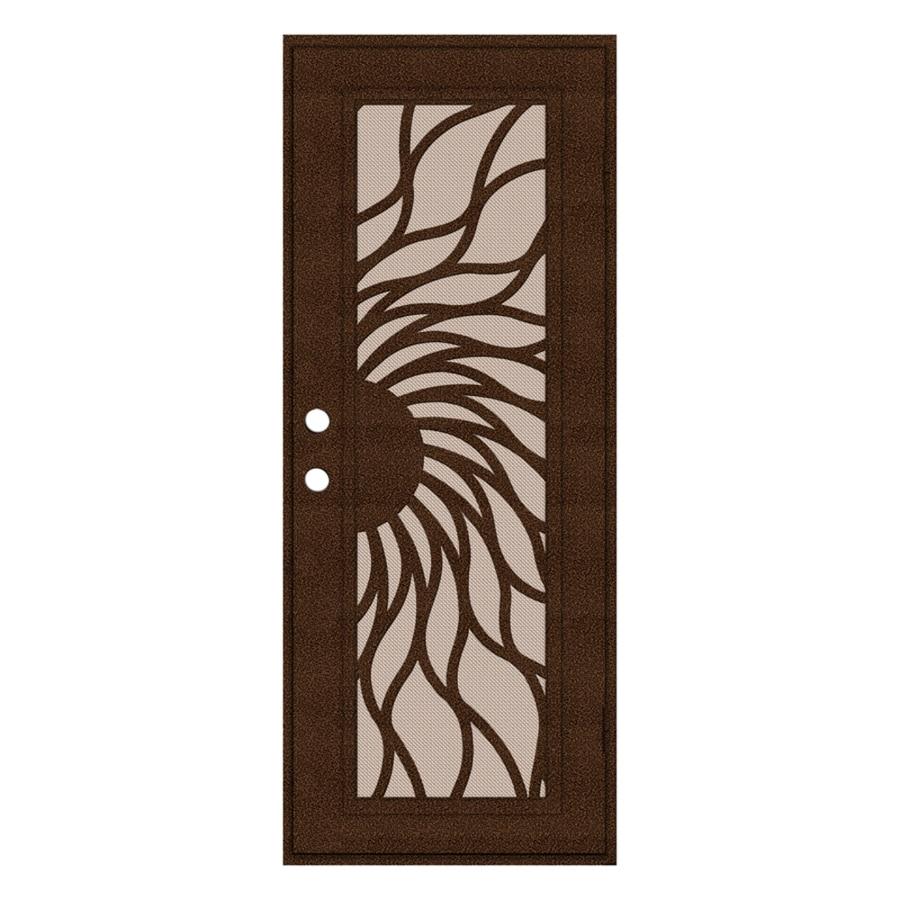 TITAN Sunfire Powder Coat Copperclad Aluminum Surface Mount Single Security Door (Common: 30-in x 80-in; Actual: 32.5-in x 81.563-in)