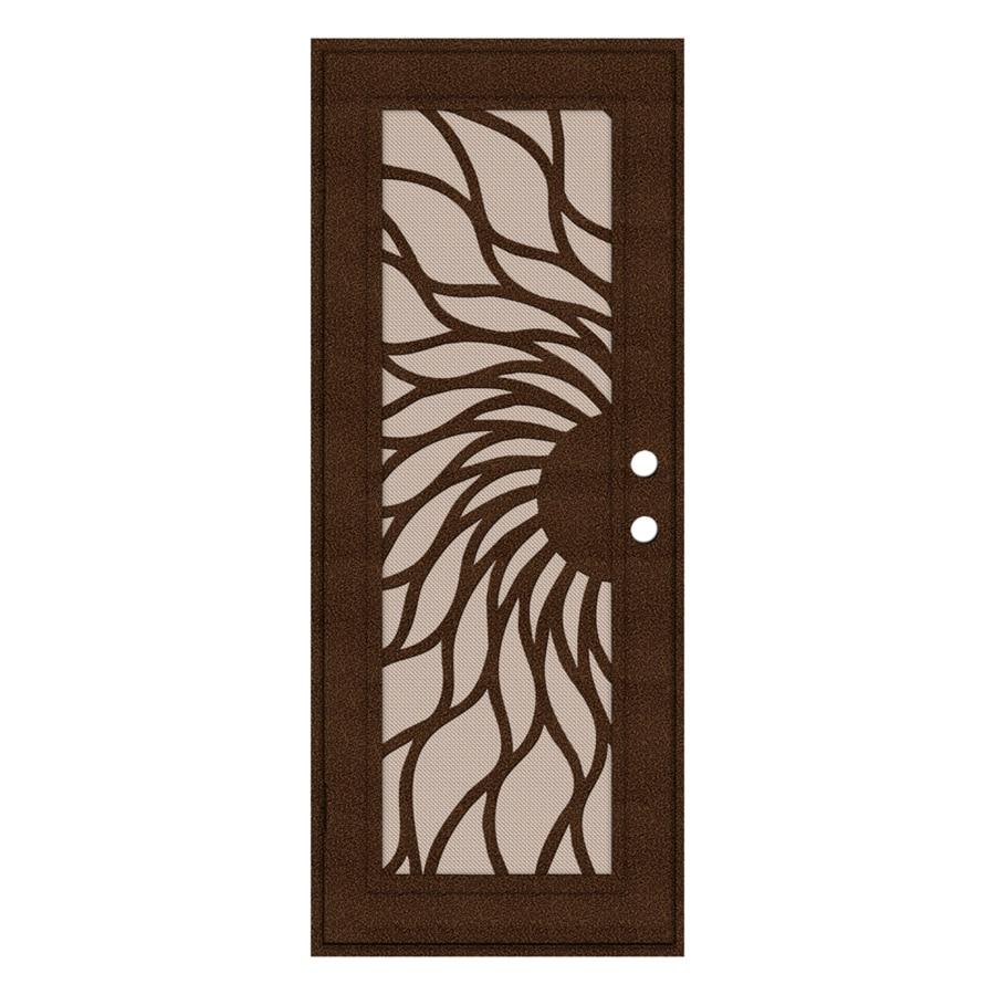 TITAN Powder-coat Copperclad Aluminum Surface Mount Single Security Door (Common: 32-in x 80-in; Actual: 34.5-in x 81.563-in)