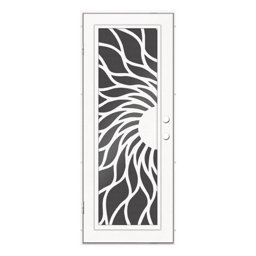 TITAN Aluminum Surface Mount Single Security Door (Common: 32-in x 80-in; Actual: 34.5-in x 81.563-in)