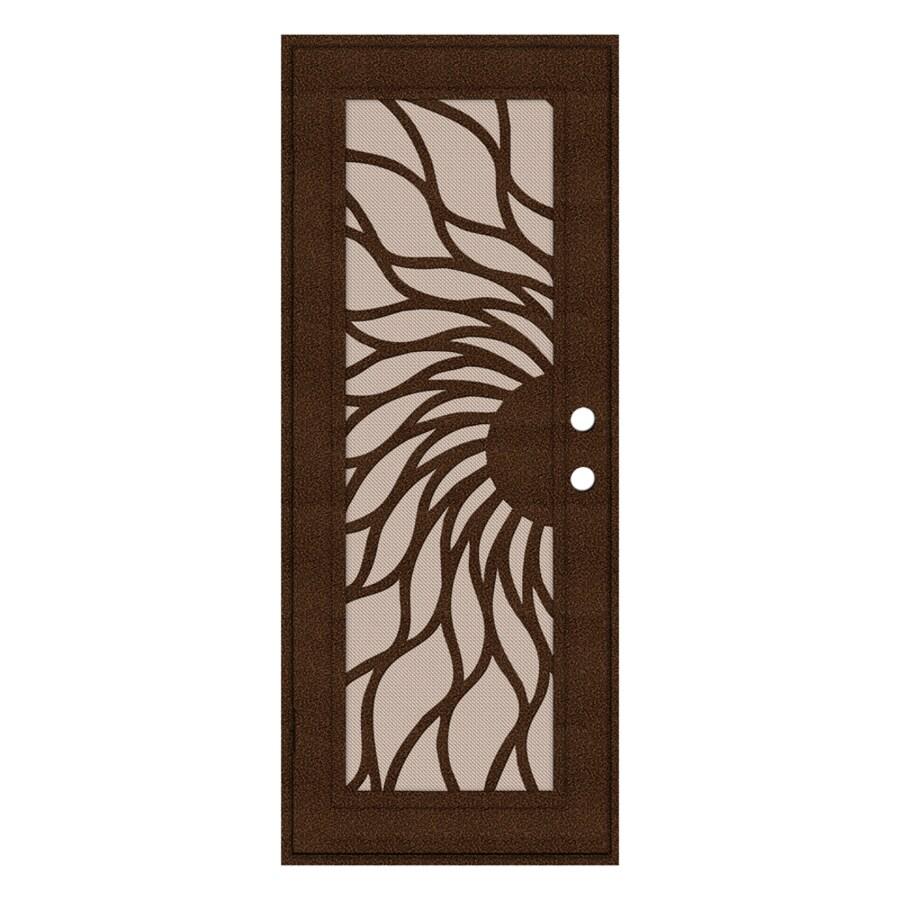 TITAN Aluminum Recessed Mount Single Security Door (Common: 32-in x 80-in; Actual: 33.5-in x 81.563-in)