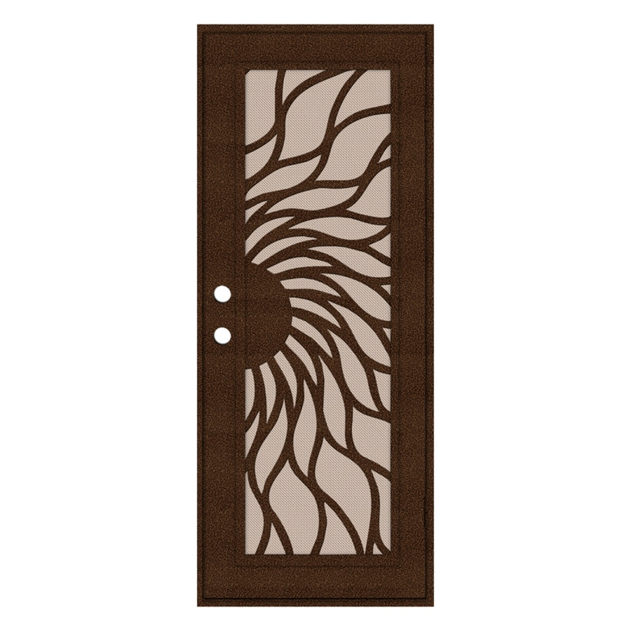 TITAN Sunfire Powder Coat Copperclad Aluminum Recessed Mount Single Security Door (Common: 32-in x 80-in; Actual: 33.5-in x 81.563-in)