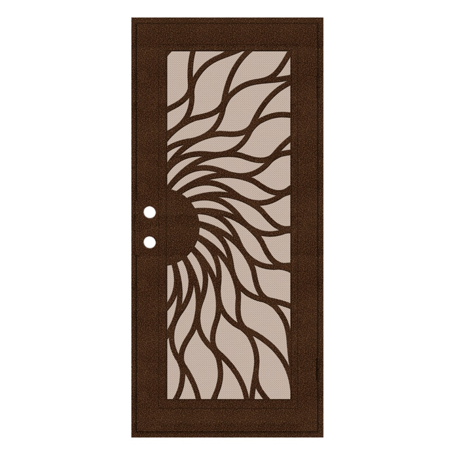 TITAN Sunfire Powder-Coat Copperclad Aluminum Surface Mount Single Security Door (Common: 36-in x 80-in; Actual: 38.5-in x 81.563-in)