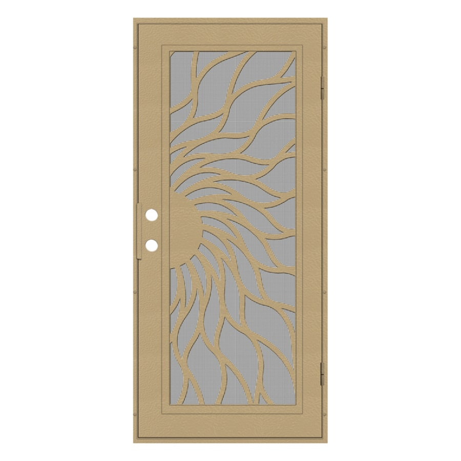 TITAN Aluminum Surface Mount Single Security Door (Common: 36-in x 80-in; Actual: 38.5-in x 81.563-in)