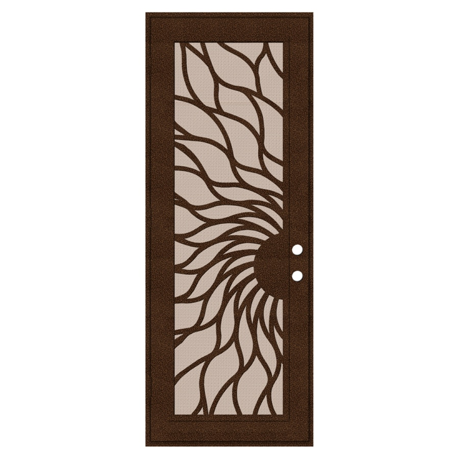 TITAN Sunfire Powder-Coat Copperclad Aluminum Surface Mount Single Security Door (Common: 36-in x 96-in; Actual: 38.5-in x 97.563-in)