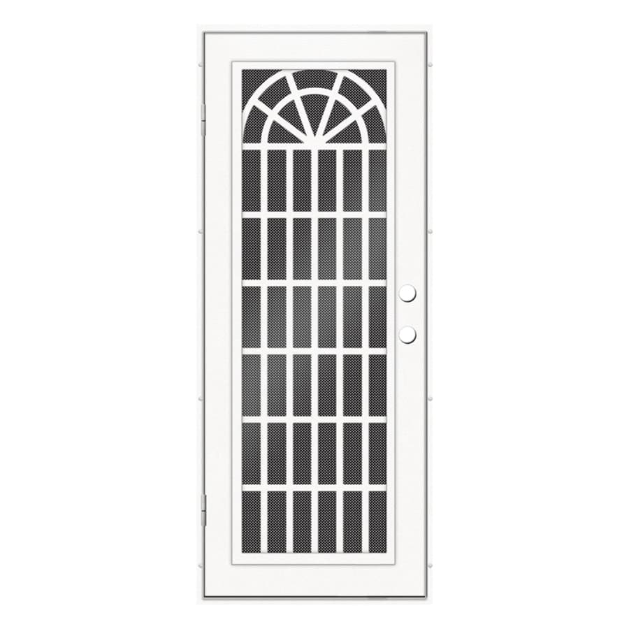 TITAN Aluminum Surface Mount Single Security Door (Common: 32-in x 80-in; Actual: 34.5-in x 81.563-in)