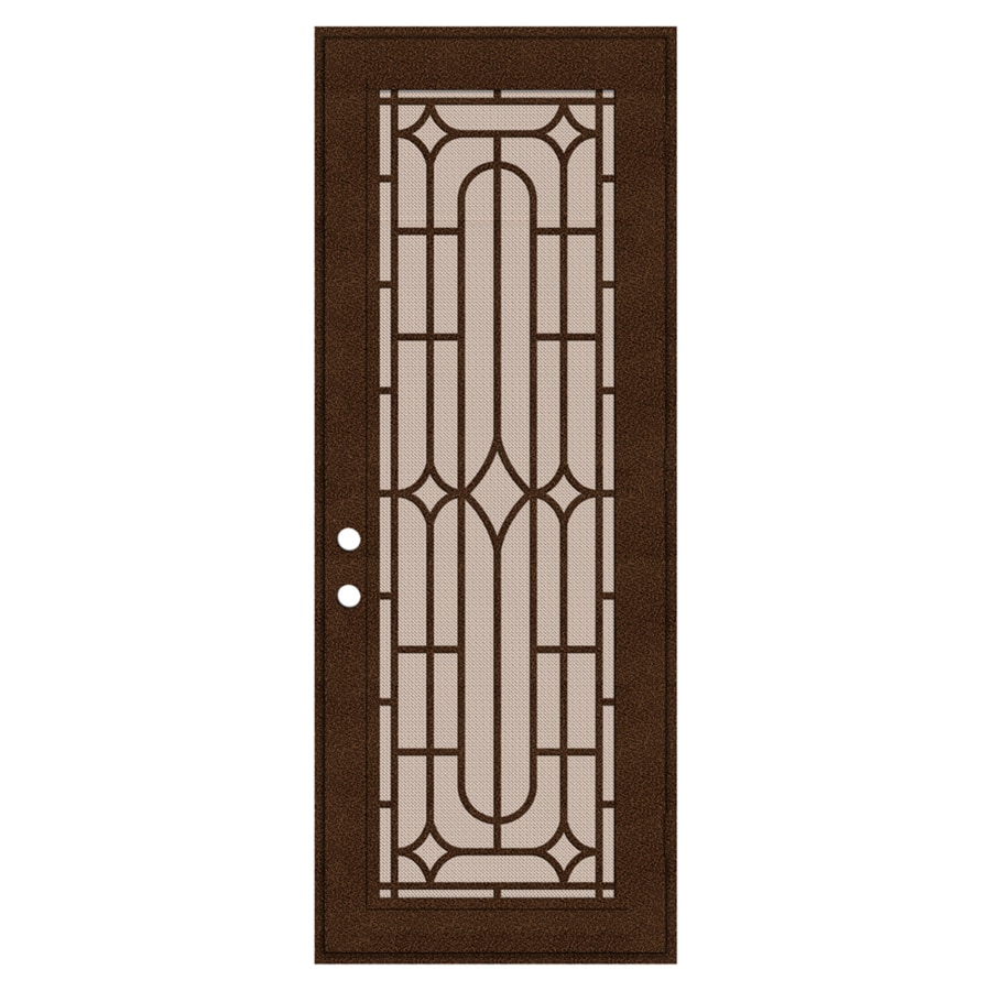 TITAN Powder-coat Copperclad Aluminum Surface Mount Single Security Door (Common: 36-in x 96-in; Actual: 38.5-in x 97.563-in)