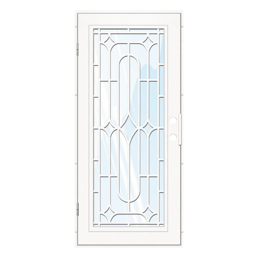 TITAN Aluminum Surface Mount Single Security Door (Common: 36-in x 80-in; Actual: 38.5-in x 81.563-in)