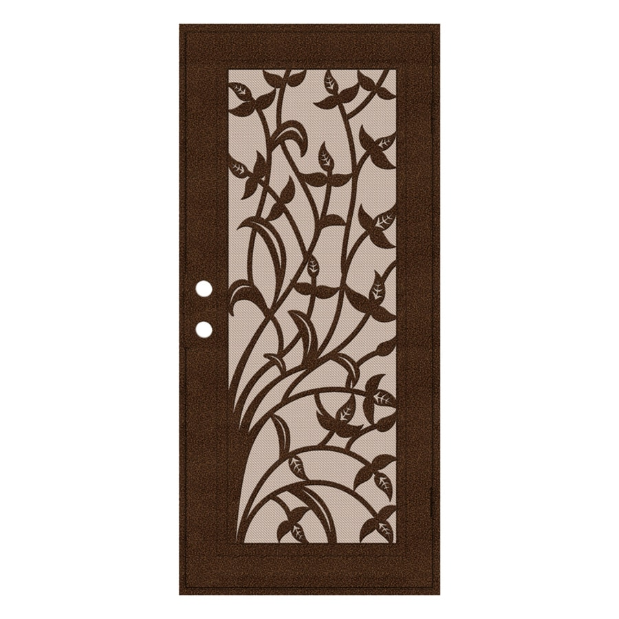 TITAN Yale Powder-Coat Copperclad Aluminum Surface Mount Single Security Door (Common: 36-in x 80-in; Actual: 38.5-in x 81.563-in)