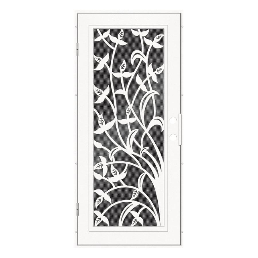 TITAN Yale Powder-Coat White Aluminum Recessed Mount Single Security Door (Common: 36-in x 80-in; Actual: 37.5-in x 81.563-in)