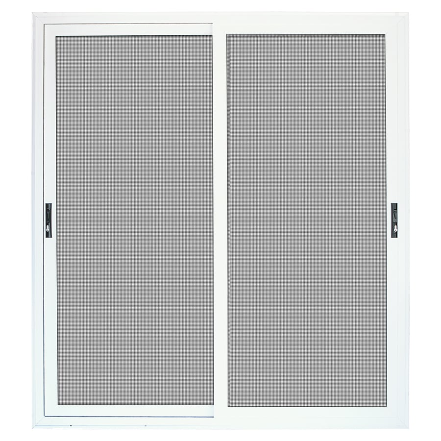 TITAN Meshtec White Aluminum Surface Mount Double Security Door (Common: 72-in x 80-in; Actual: 75-in x 84.5-in)