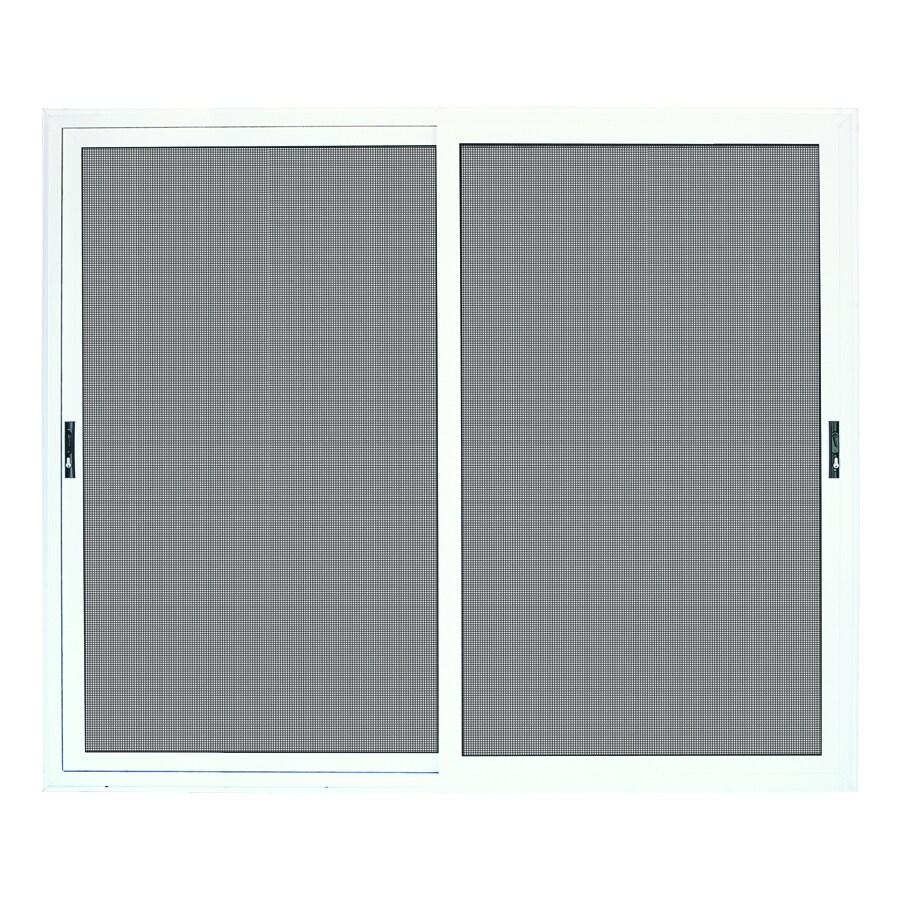 TITAN Meshtec White Aluminum Surface Mount Double Security Door (Common: 96-in x 80-in; Actual: 99-in x 84.5-in)