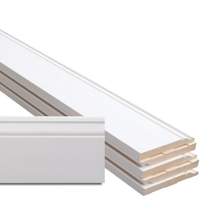 5-1/4-in x 12-ft Primed MDF Baseboard Moulding (Actual: 5 25