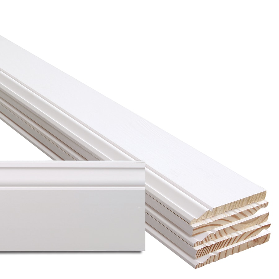 6 Pack 5 25 In X 12 Ft Interior Pine Primed Baseboard Moulding At Lowes