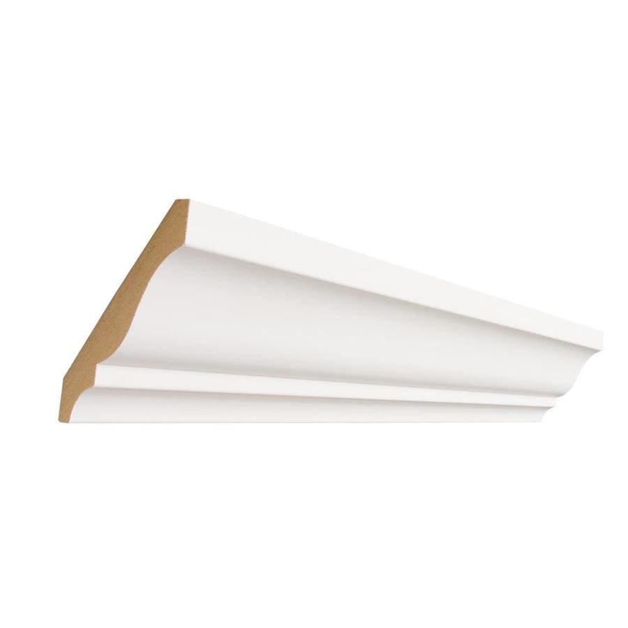 3.625-in x 12-ft Painted MDF Crown Moulding