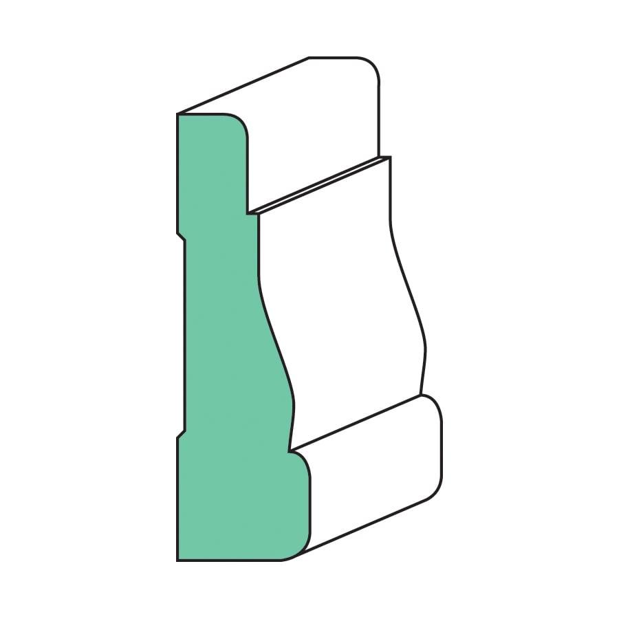 12-Pack 2.25-in x 7-ft Interior Painted MDF Window and Door Casing