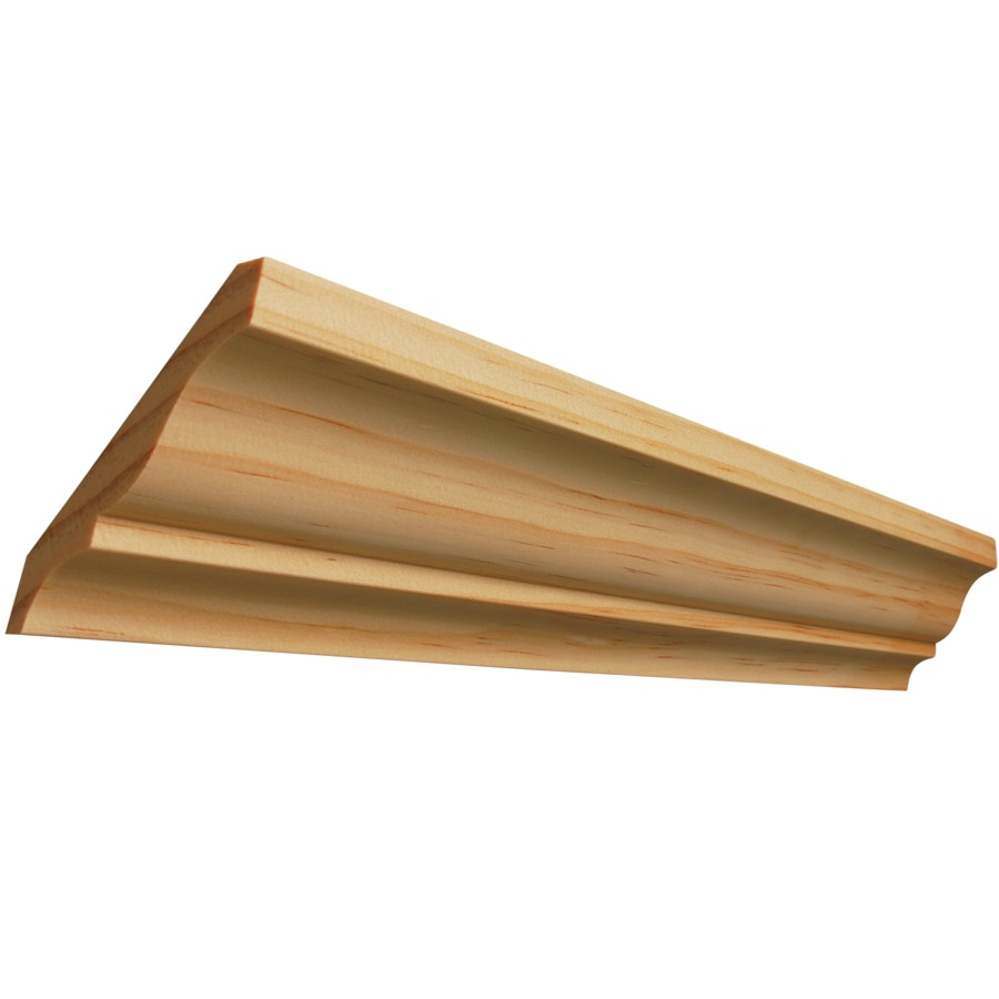 3.25-in x 8-ft Pine Wood Crown Moulding