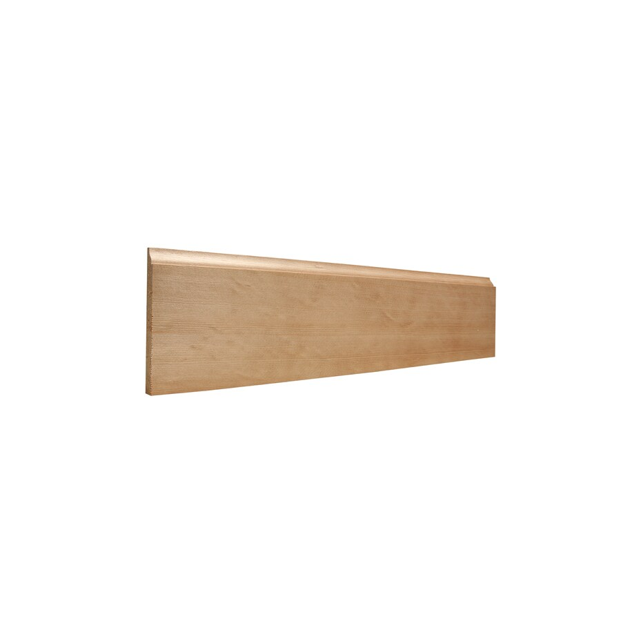 4.25-in x 12-ft Interior Hemlock Unfinished Baseboard Moulding