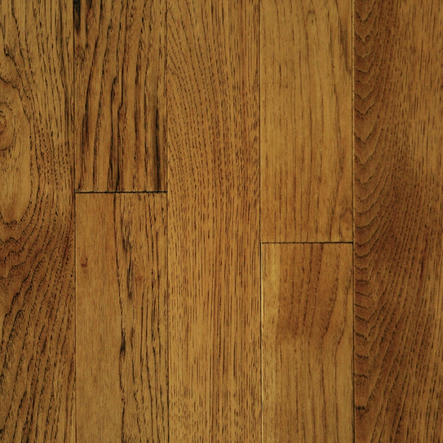 Shop mullican flooring muirfield 4 in saddle hickory solid for Solid hardwood flooring