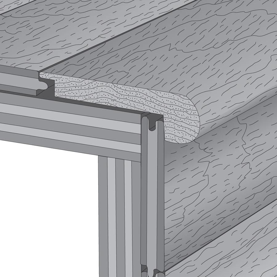Mullican Flooring 3-in x 78-in Tigerwood Stair Nose Floor Moulding
