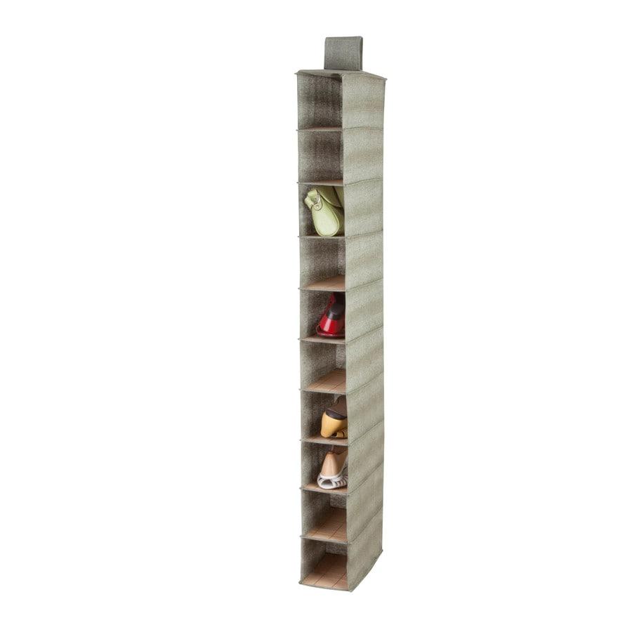 Honey-Can-Do 10 Shelf Shoe Organizer- Bamboo/Moss