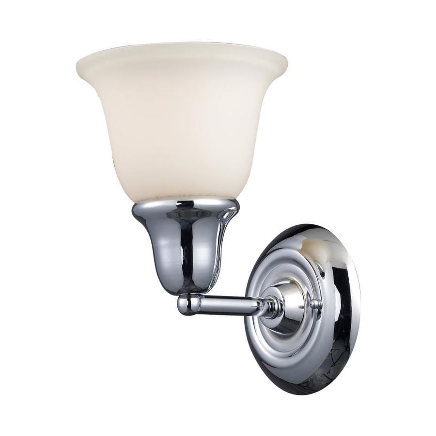 Westmore Lighting Ashington 1-Light 8-in Polished Chrome Bell Vanity Light