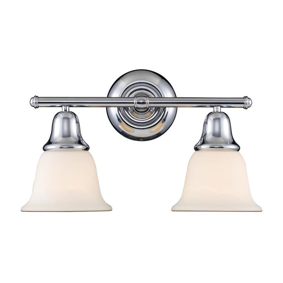 Westmore Lighting Ashington 2-Light 8-in Polished Chrome Bell Vanity Light