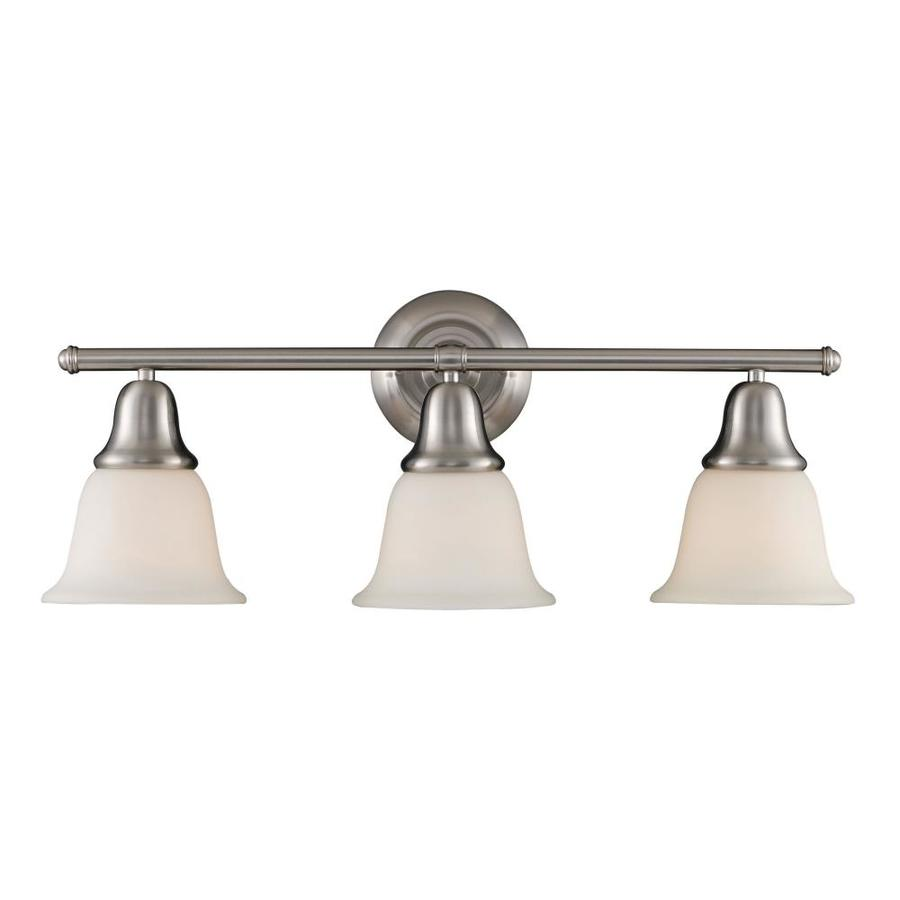Westmore Lighting Ashington 3-Light 8-in Brushed Nickel Bell Vanity Light
