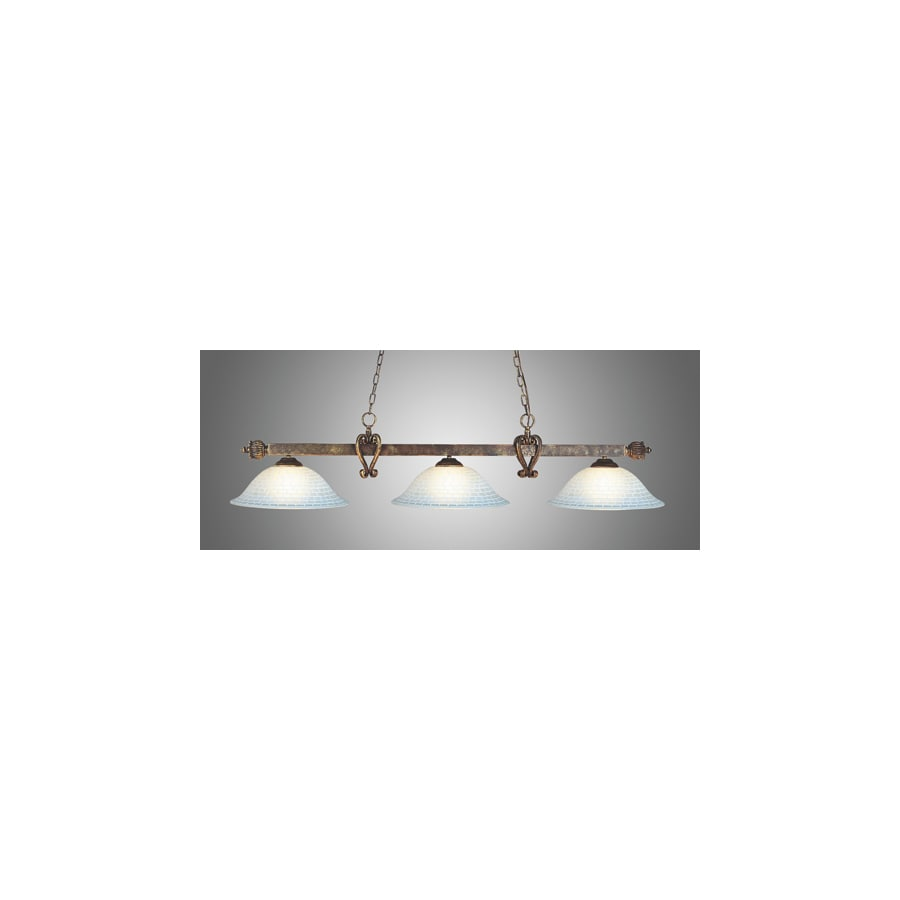 Westmore Lighting 3 Light Linear In Tiffany Bronze With Gl