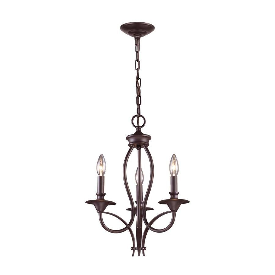 Westmore Lighting Kovin Park 14-in 3-Light Oil Rubbed Bronze Candle Chandelier