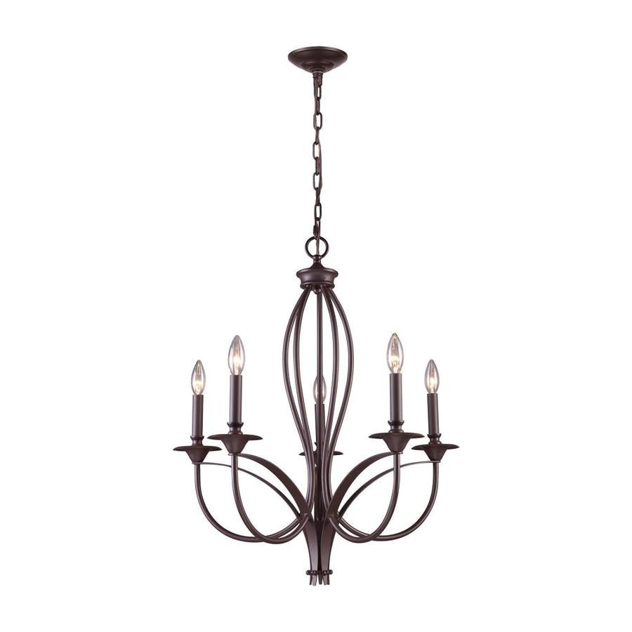 Westmore Lighting Kovin Park 26-in 5-Light Oil Rubbed Bronze Candle Chandelier
