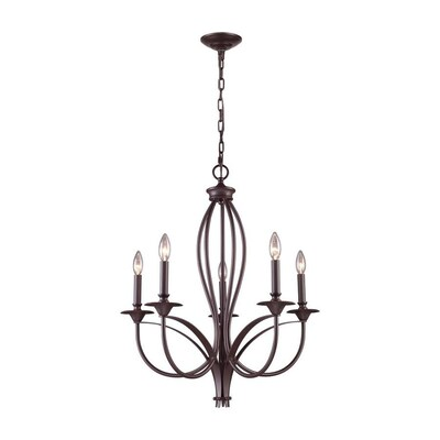 Candid 5 Light Oil Rubbed Bronze