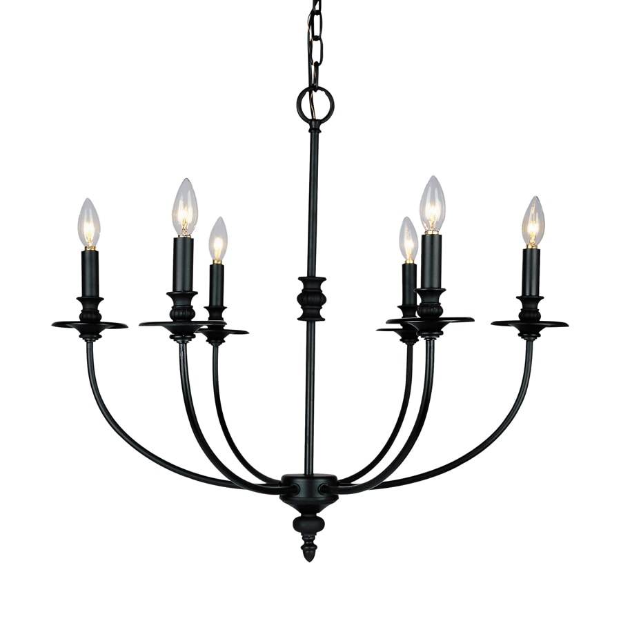 Westmore Lighting Spades 25-in 6-Light Oil-Rubbed Bronze Candle Chandelier