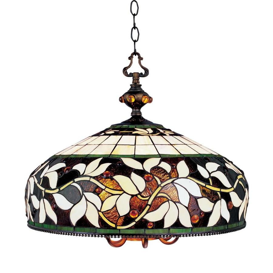 Westmore Lighting Lompoc 20-in 6-Light Tiffany Bronze Tiffany-Style Stained Glass Shaded Chandelier