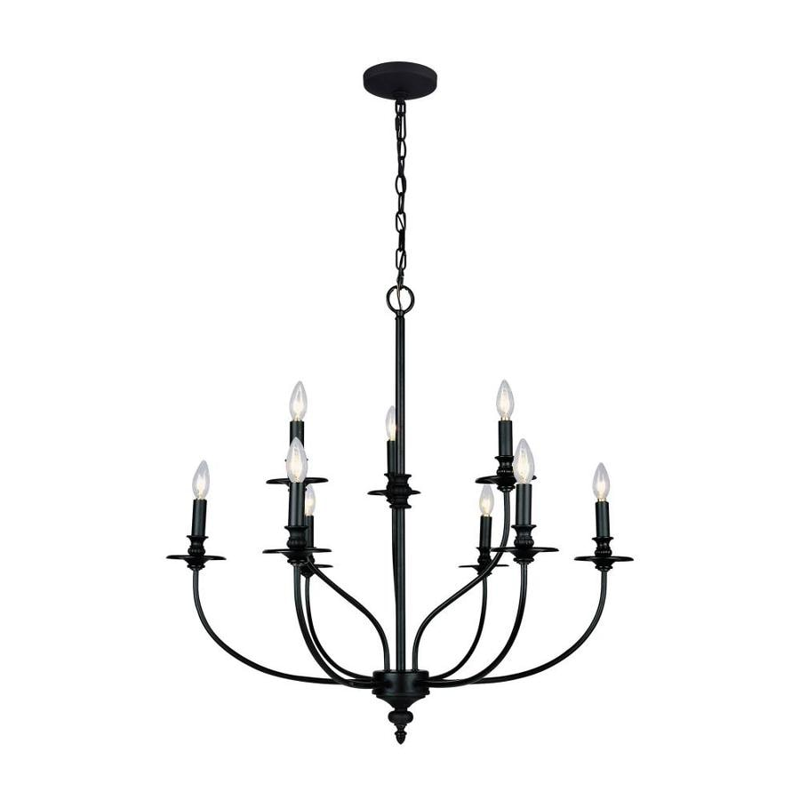 Westmore Lighting Spades 29-in 9-Light Oil Rubbed Bronze Candle Chandelier