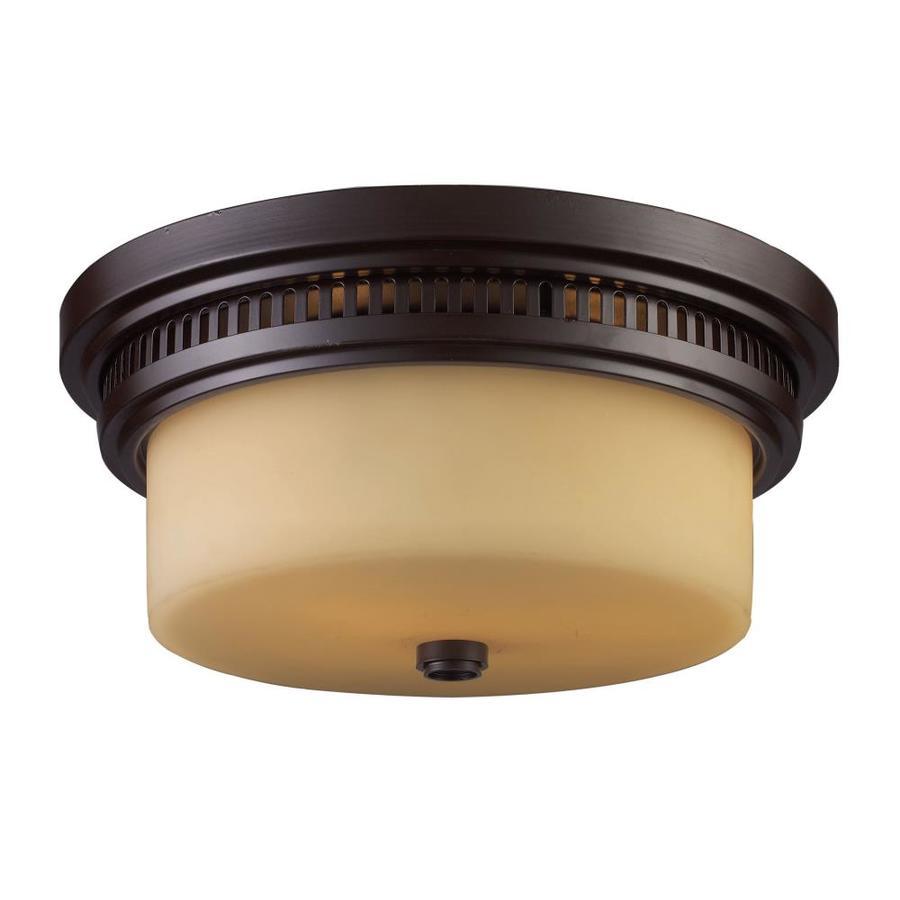 Westmore Lighting 13-in W Oiled Bronze Flush Mount Light