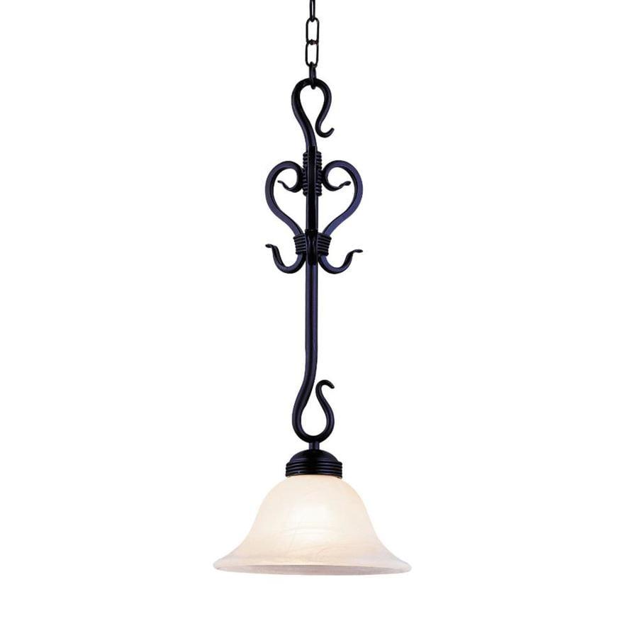 Westmore Lighting Cottier 9.5-in Matte Black Single Bell Pendant