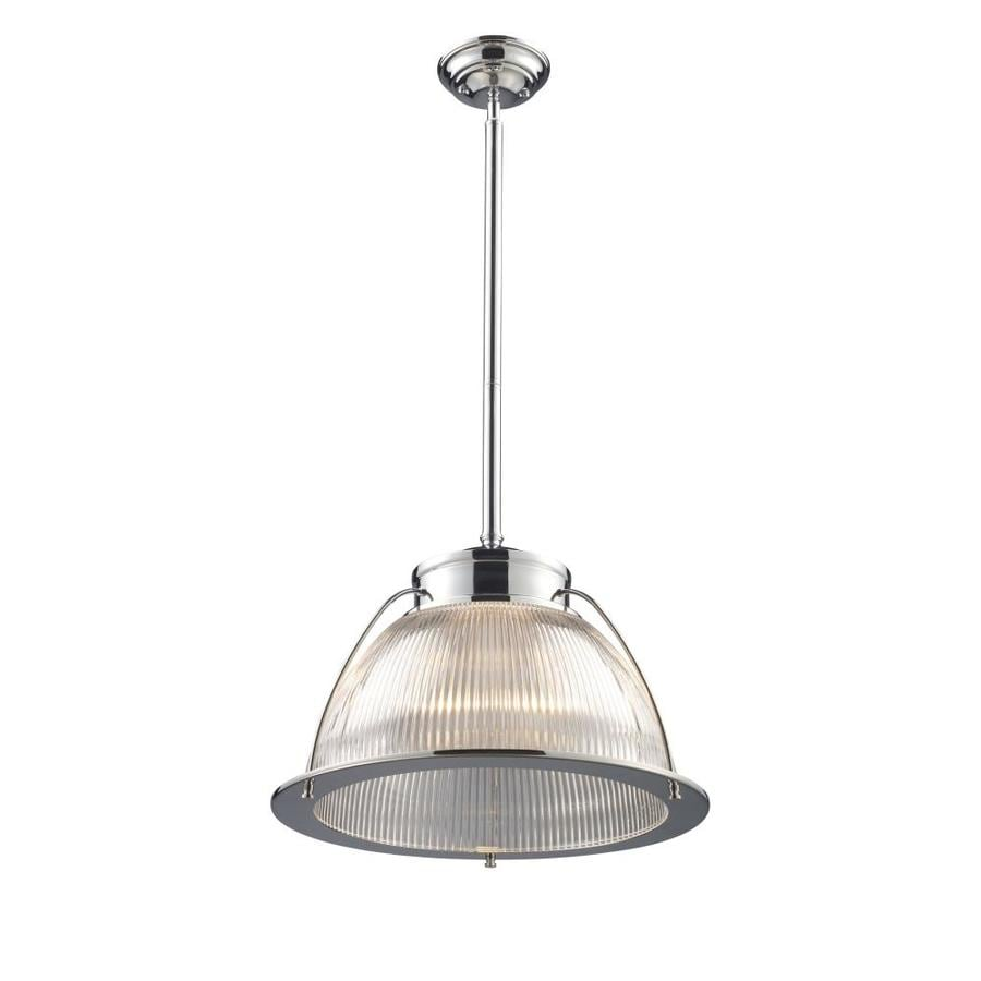 Westmore Lighting Concord 16-in Polished Chrome Industrial Single Clear Glass Dome Pendant