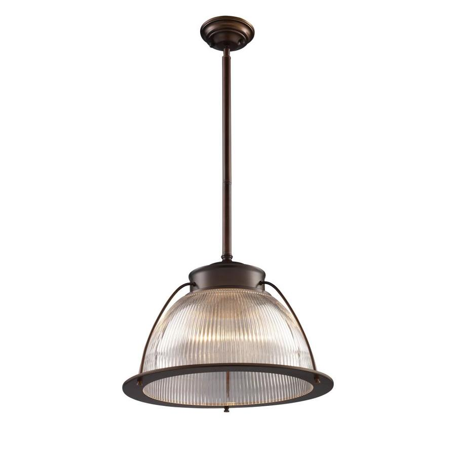 Westmore Lighting Concord 16-in Aged Bronze Industrial Single Clear Glass Dome Pendant