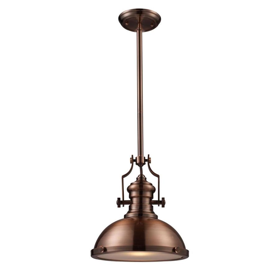 Westmore Lighting Chiserley 13-in Antique Copper Industrial Single Dome Pendant