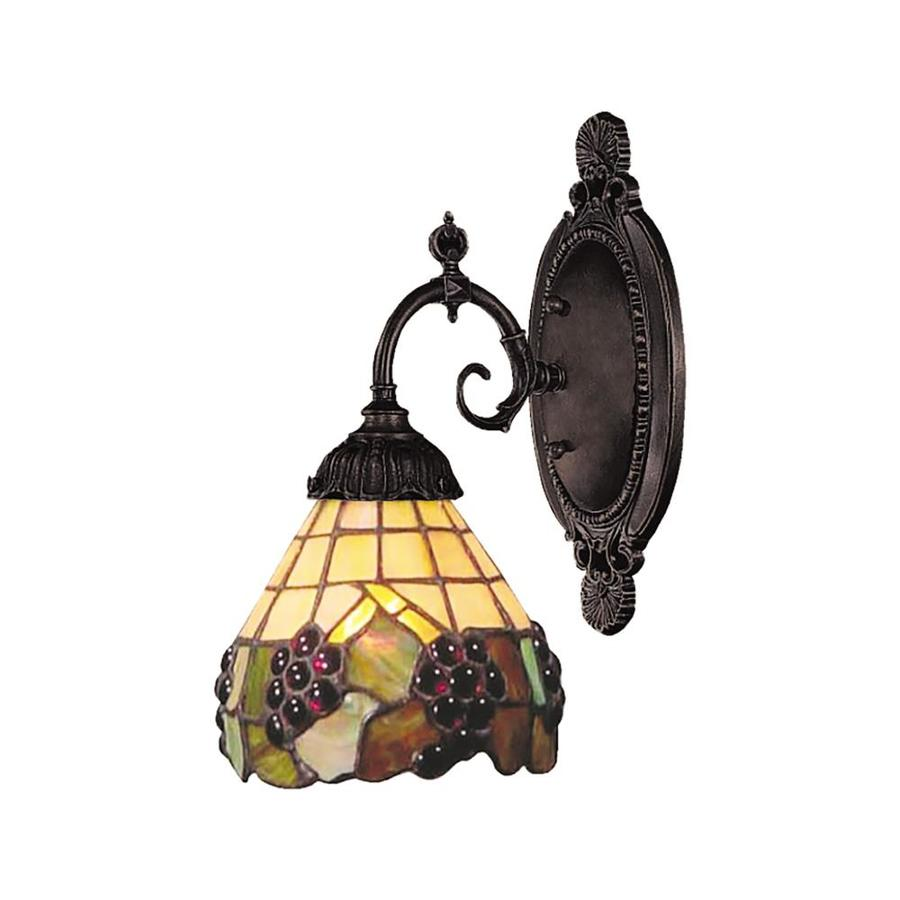 Lowes Tiffany Wall Sconces : Shop Westmore Lighting Mix-N-Match 4.5-in W 1-Light Tiffany Bronze Tiffany-Style Arm Wall Sconce ...