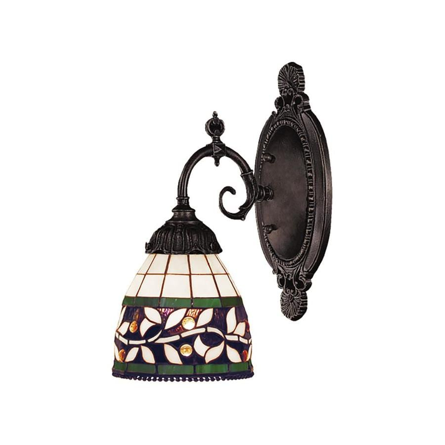 Westmore Lighting Mix-N-Match 4.5-in W 1-Light Tiffany Bronze Tiffany-style Arm Wall Sconce