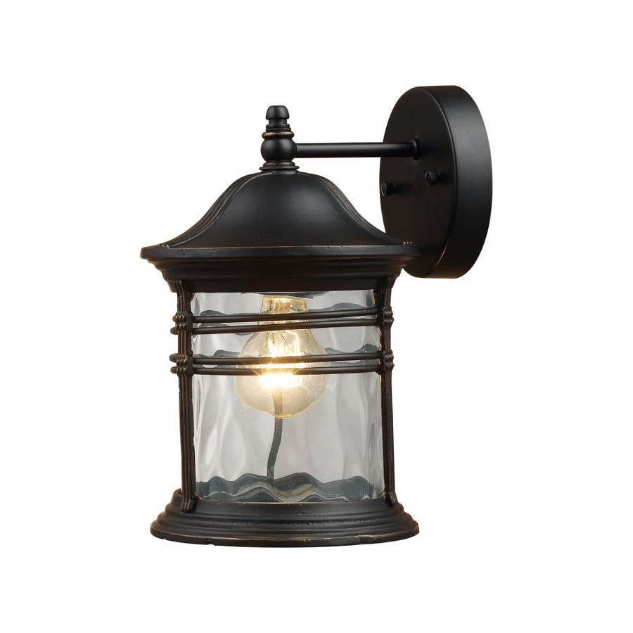 Westmore Lighting Madison 9-in W 1-Light Matte Black Arm Wall Sconce