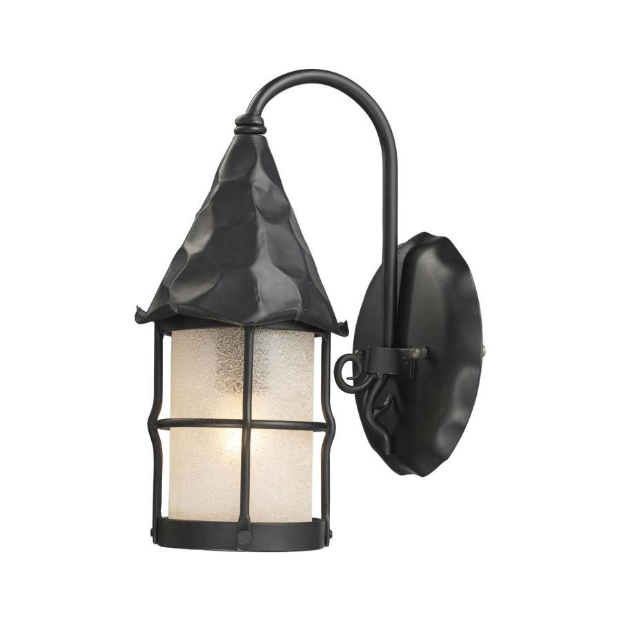 Westmore Lighting Rustica 7.5-in W 1-Light Matte Black Arm Wall Sconce