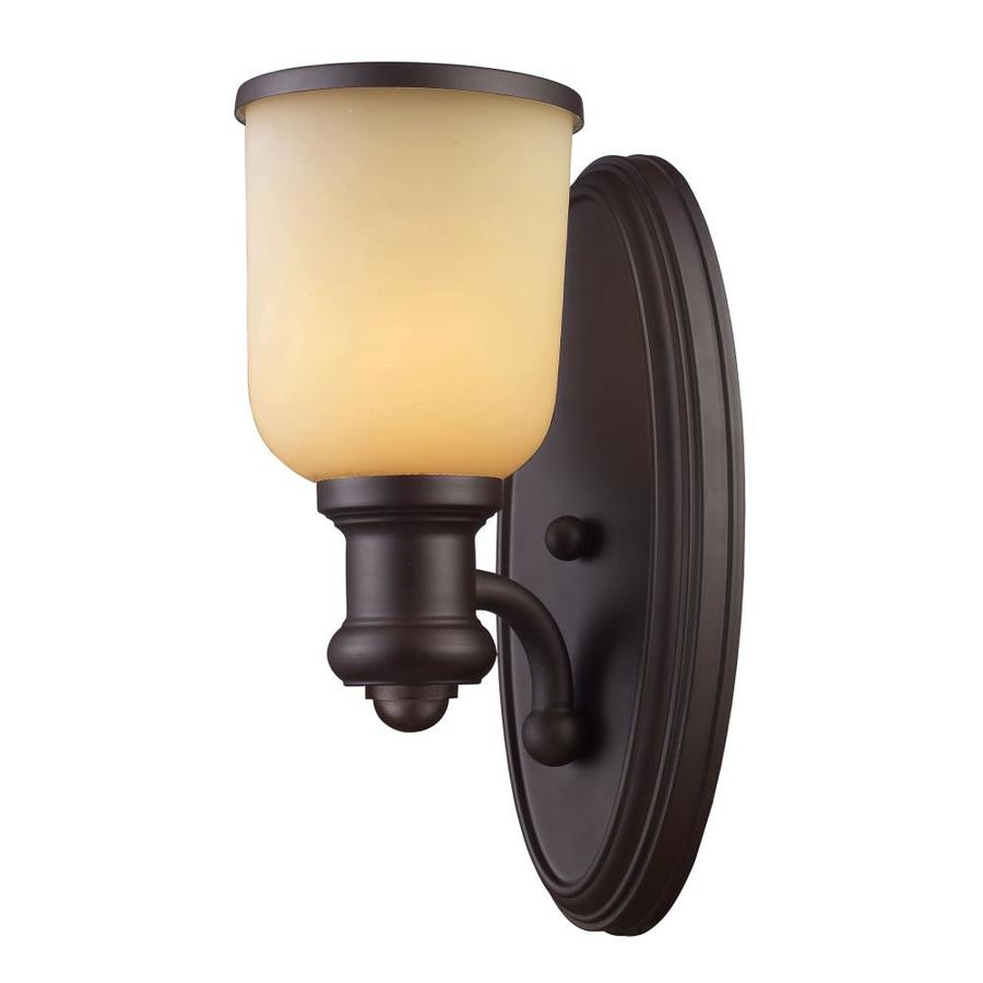 Westmore Lighting Brooksdale 5-in W 1-Light Oiled Bronze Arm Wall Sconce